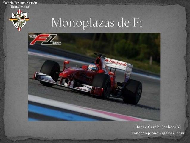 Monoplazas de F1