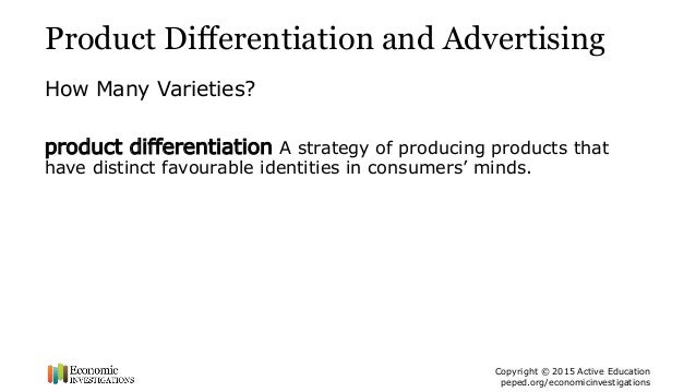 4 Product Differentiation And Advertising