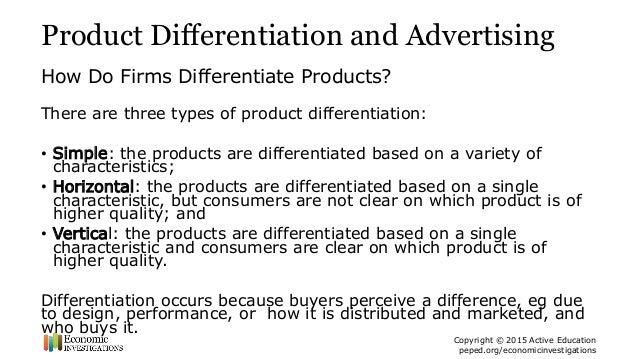 5 Product Differentiation And Advertising