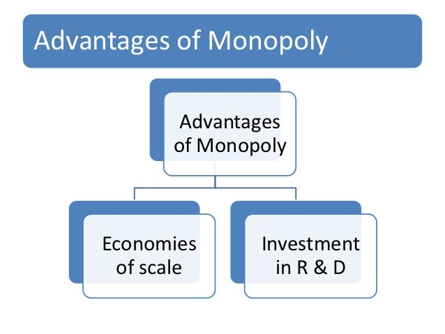 advantages of monopoly Some advantages and disadvantages of monopoly are as follows so let us check it out some information of advantages and disadvantages to know more about monopoly.