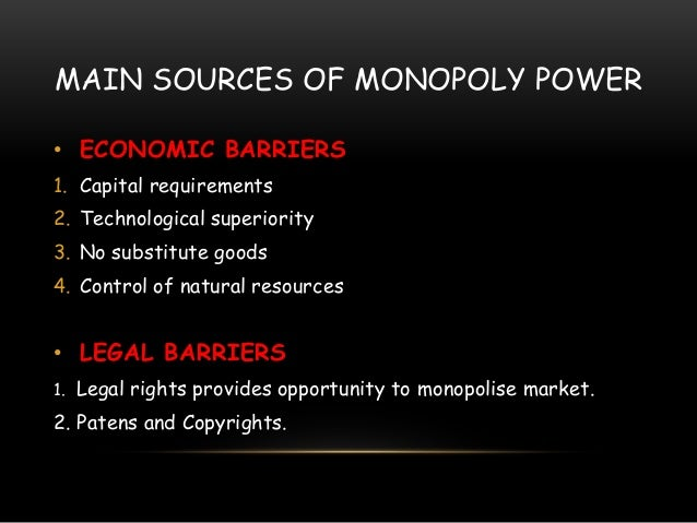 Monopoly Presentation  Business  U0026 Government Relation