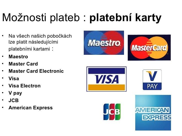 Možnosti plateb