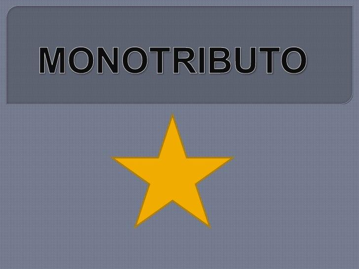 MONOTRIBUTO<br />