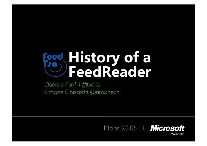 FeedTso, History of a WP7 FeedReader