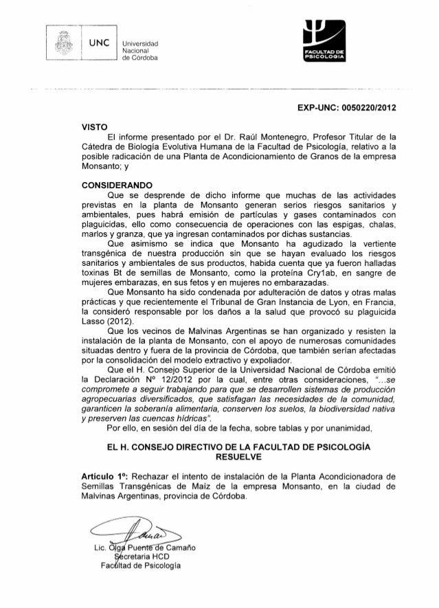 Monsanto rifiutata in argentina