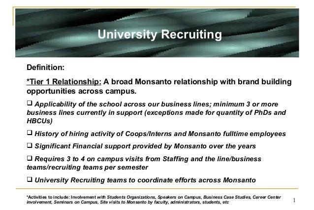 Monsanto UR Tier School Strategy 2005