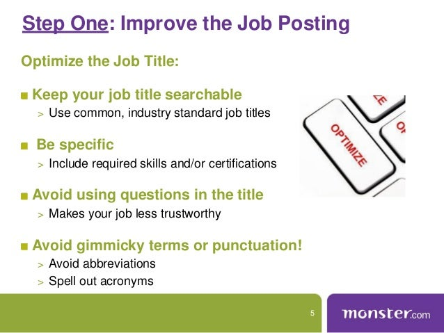 webinar maximize your posting resume
