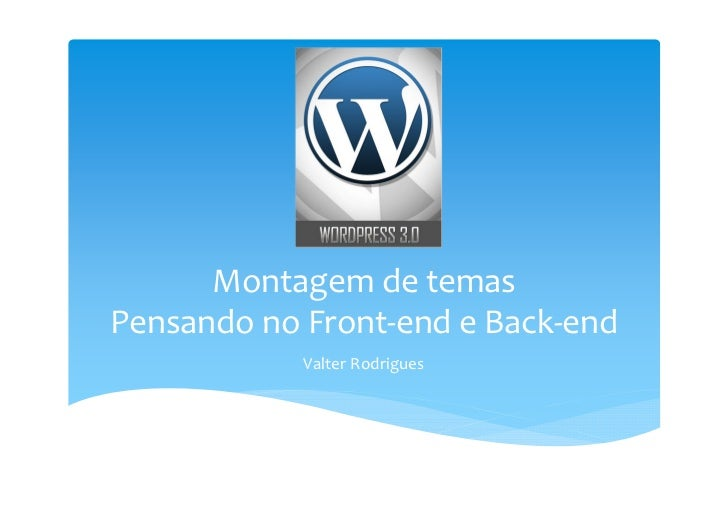 Wordpress - Montagem de temas