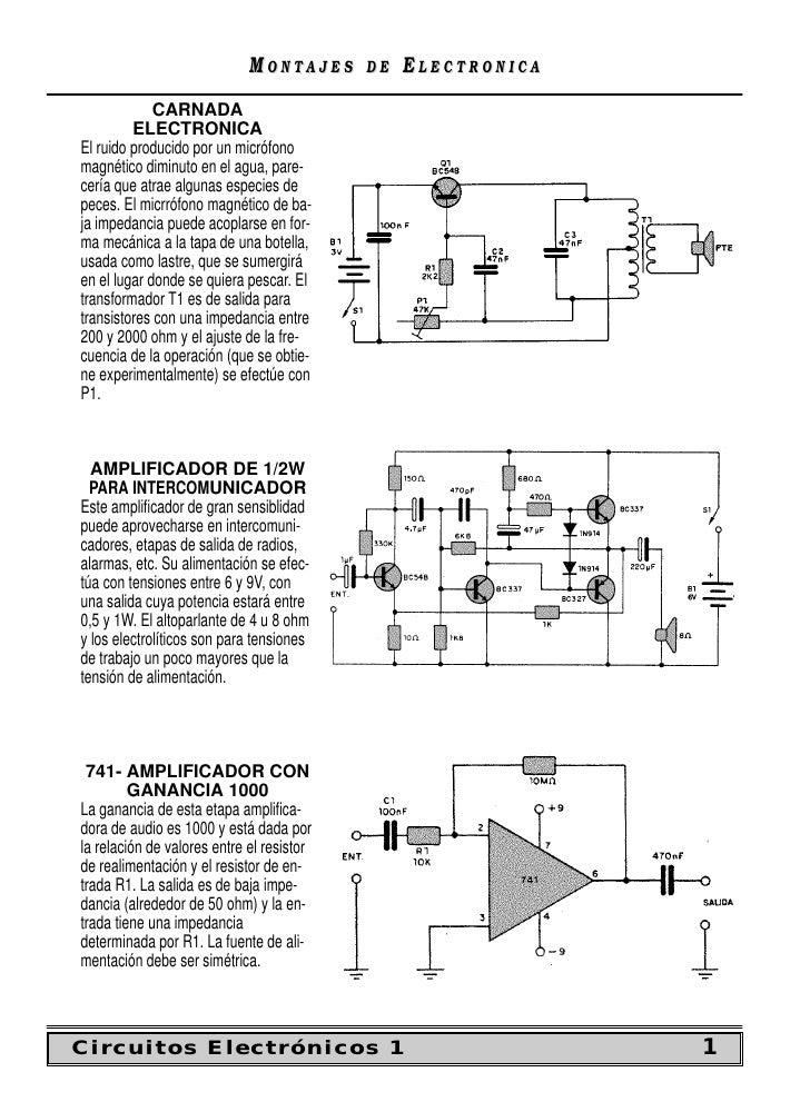MONTAJES      DE   ELECTRONICA              CARNADA          ELECTRONICA El ruido producido por un micrófono magnético dim...