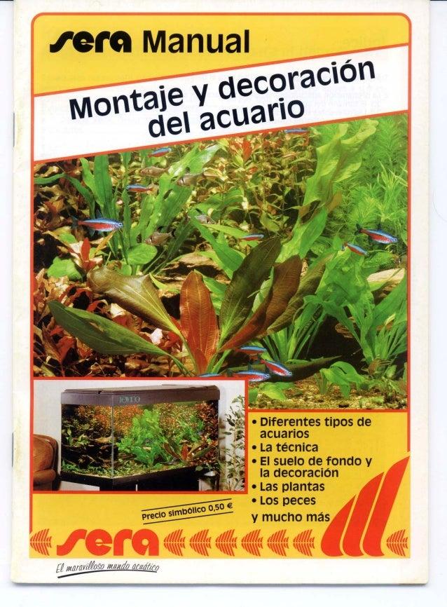 Montaje y decoracion del acuario manual 1 - Decoracion manau sl ...