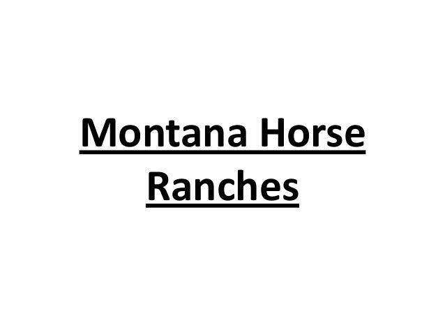Montana Horse Ranches