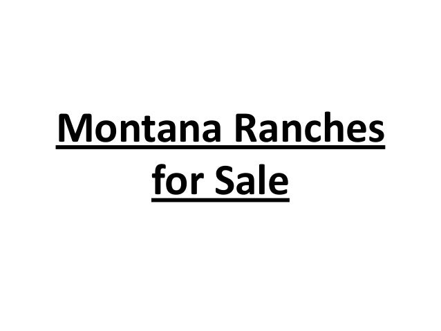 Montana Ranches for Sale