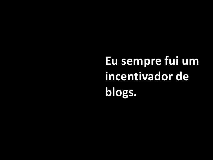 Monta um blog!
