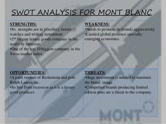 swot analysis of mont blanc