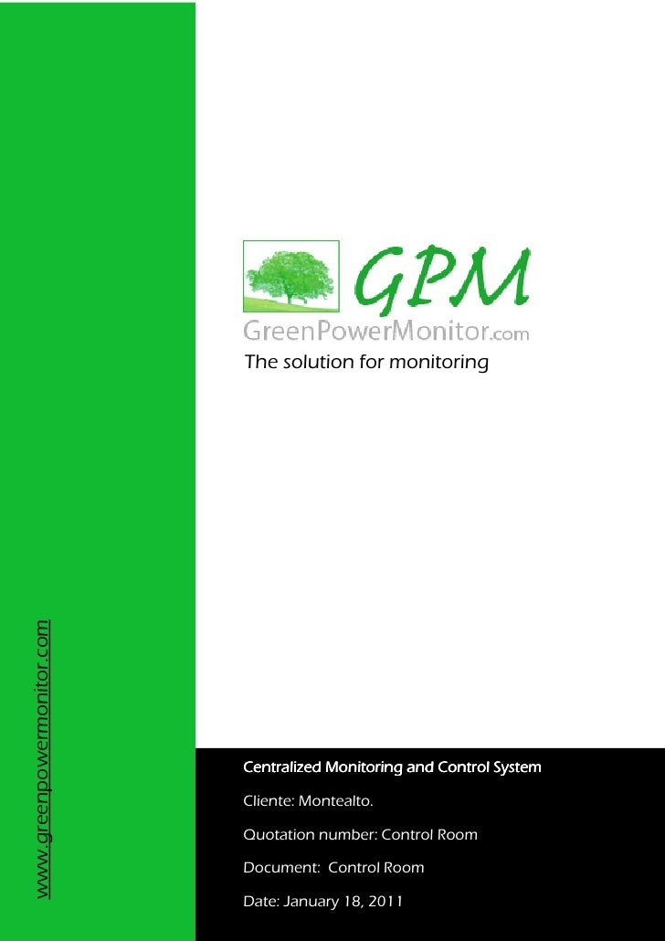 The solution for monitoringwww.greenpowermonitor.com                            Centralized Monitoring and Control System ...