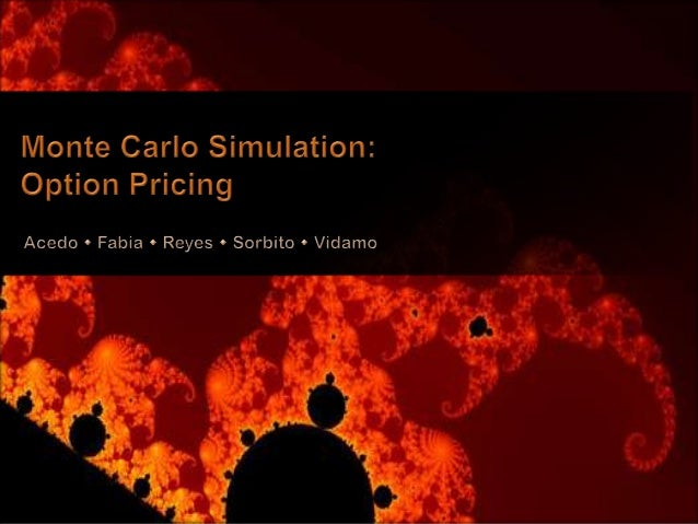 Monte carlo option pricing final v3