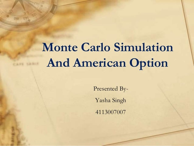 Binary option monte carlo