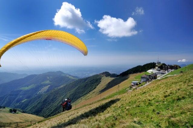 Eco turismo e sport sul Monte Generoso: il parapendio
