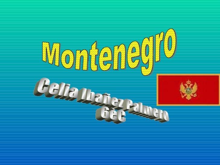 Montenegro Celia Ibañez Palmero  6èC