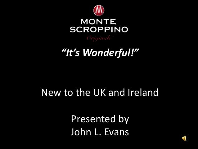 """""""It's Wonderful!"""" New to the UK and Ireland Presented by John L. Evans"""