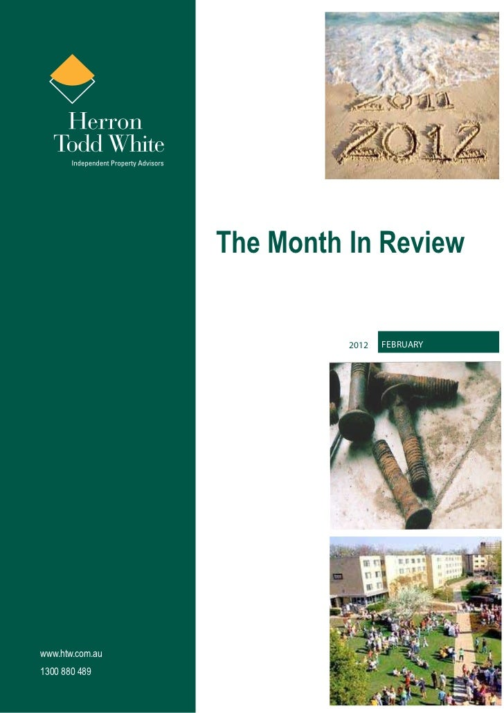 The Month In Review                           2012   Februarywww.htw.com.au1300 880 489