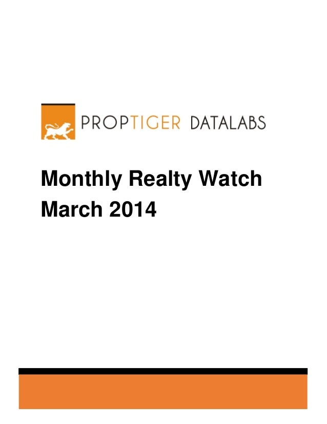 Monthly Realty Watch March 2014