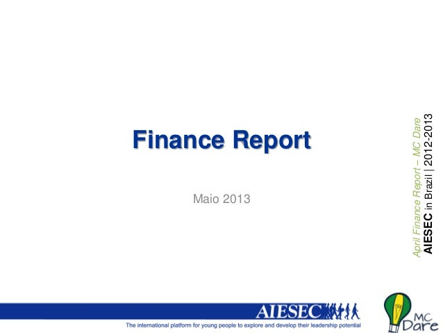 Monthly report finance   may 2013