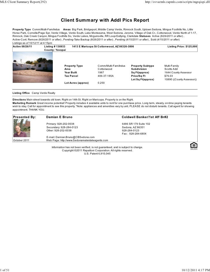Sedona Verde Valley Commercial Real Estate Transaction Report