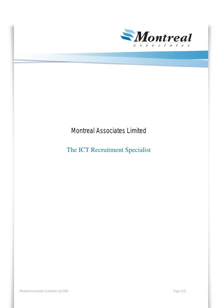 Montreal Associates Limited                                      The ICT Recruitment Specialist     Montreal Associates (S...