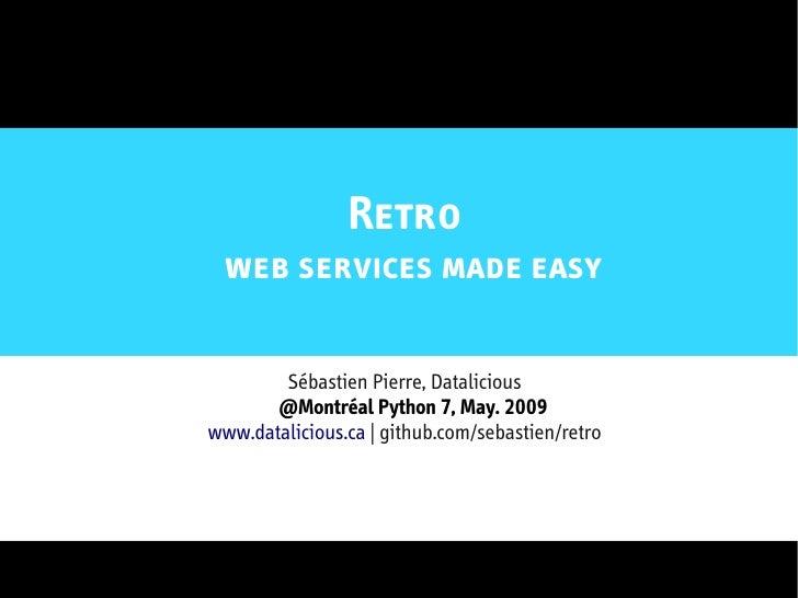 Retro - Web Services Made Easy