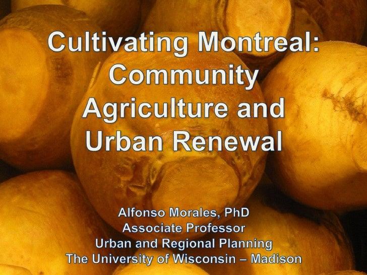 Présentation d'Alfonso Morale - Conférence du 24 avril 2012