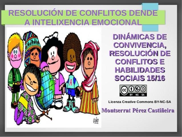 RESOLUCIÓN DE CONFLITOS DENDE A INTELIXENCIA EMOCIONAL DINÁMICAS DEDINÁMICAS DE CONVIVENCIA,CONVIVENCIA, RESOLUCIÓN DERESO...