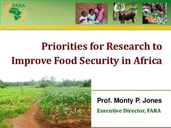 Monty Jones Africa Australia consultationPriorities for Research to Improve Food Security in Africa