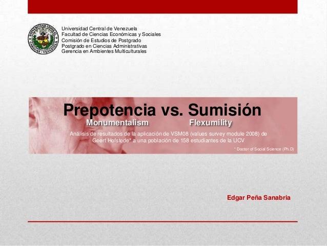 Universidad Central de VenezuelaFacultad de Ciencias Económicas y SocialesComisión de Estudios de PostgradoPostgrado en Ci...