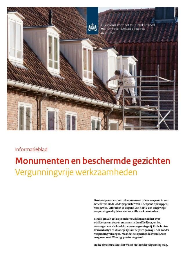 Vergunningen voor onderhoud & restauratie van Monumenten