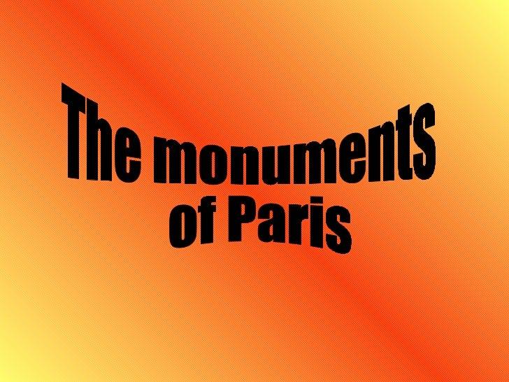 The monuments of Paris