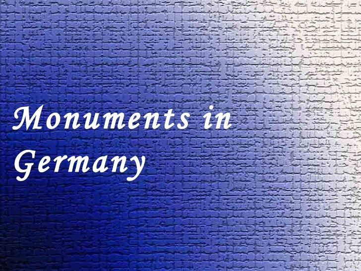 Monuments in germany