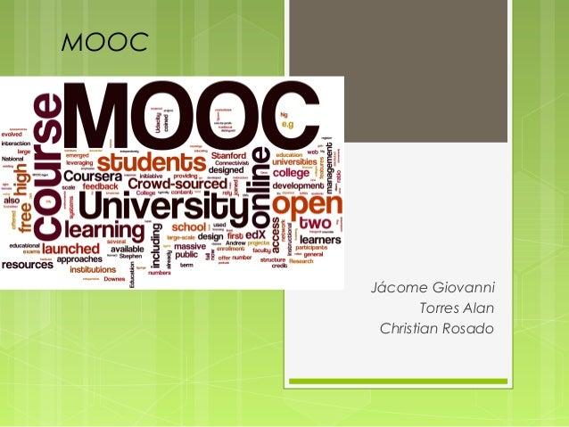 MOOC  Jácome Giovanni Torres Alan Christian Rosado