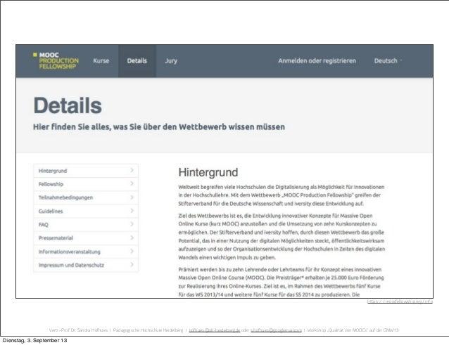 Vertr.-Prof. Dr. Sandra Hofhues | Pädagogische Hochschule Heidelberg | hofhues@ph-heidelberg.de oder s.hofhues@googlemail....