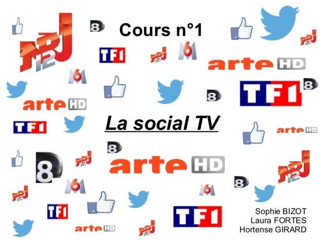 Cours n°1 La social TV Sophie BIZOT Laura FORTES Hortense GIRARD
