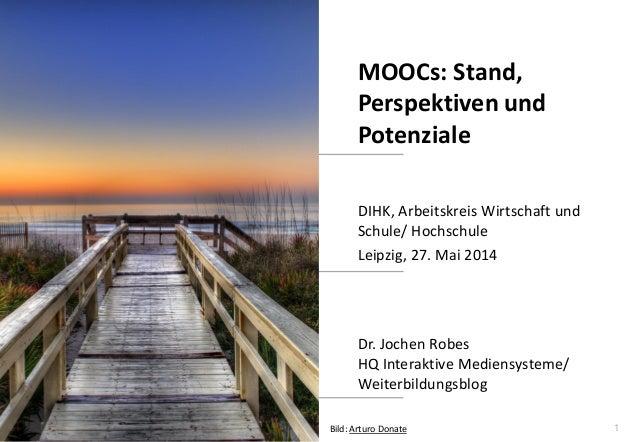 1 www.hq.de Dr. Jochen Robes HQ Interaktive Mediensysteme/ Weiterbildungsblog MOOCs: Stand, Perspektiven und Potenziale DI...