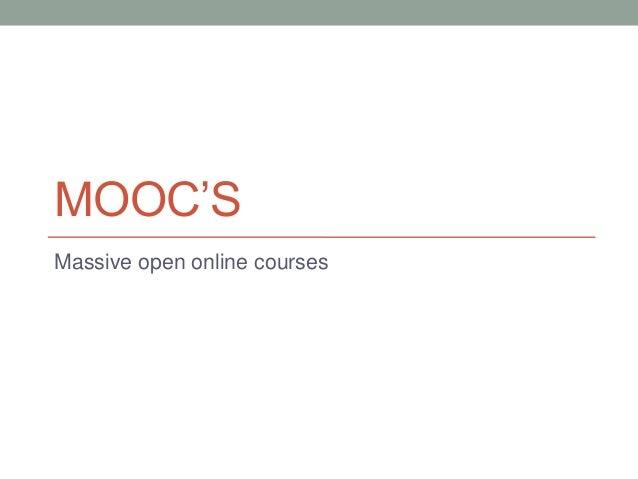 Mooc's mt