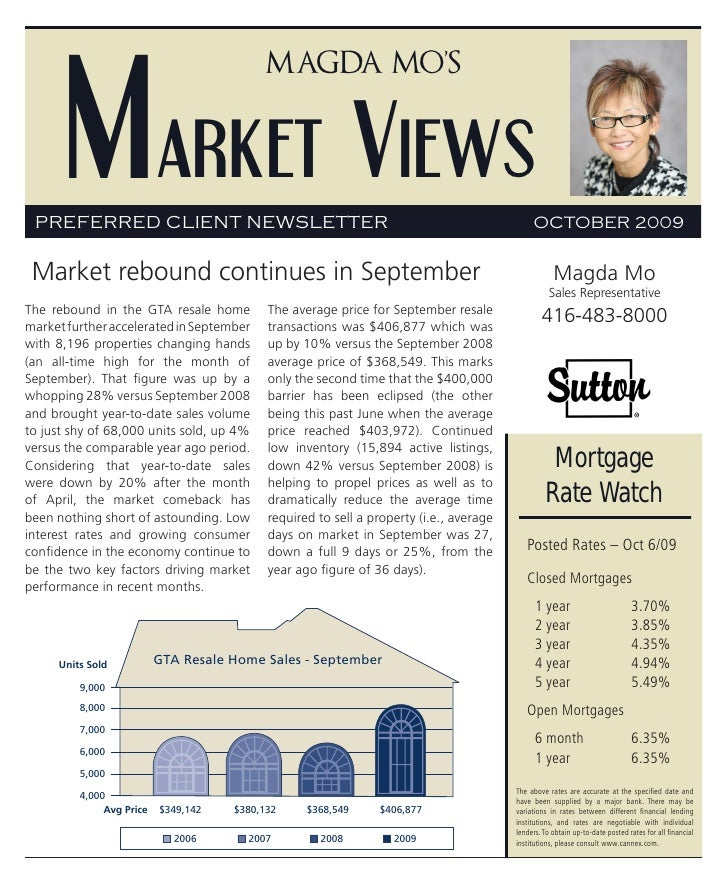 Market Views                                           Magda Mo's      PREFERRED CLIENT NEWSLETTER                        ...