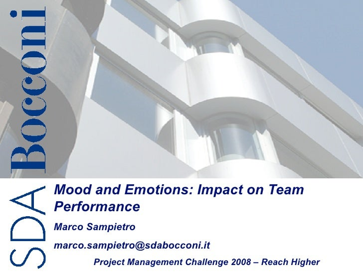 Mood and emotions impact on team performance
