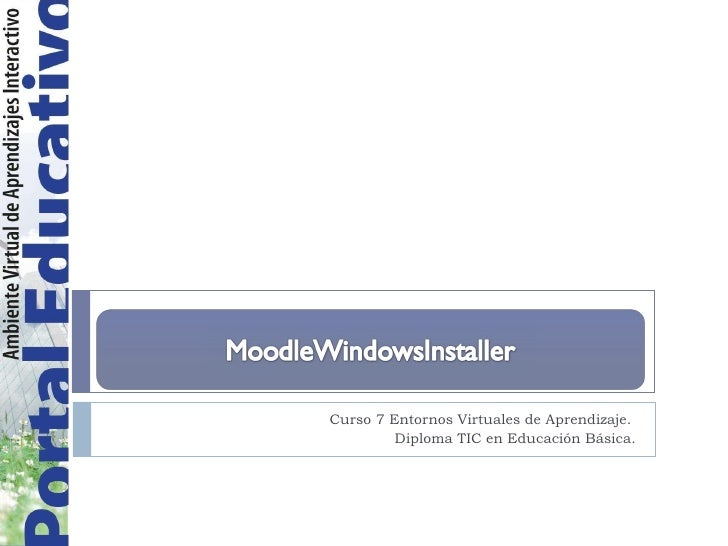 MoodleWindowsInstaller