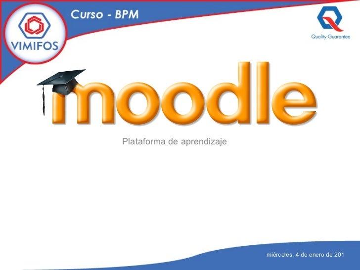 Plataforma de aprendizaje miércoles, 4 de enero de 2012