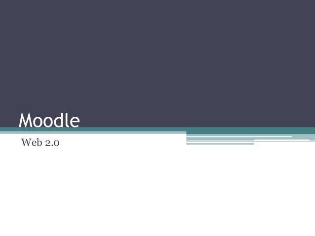 Moodle Web 2.0