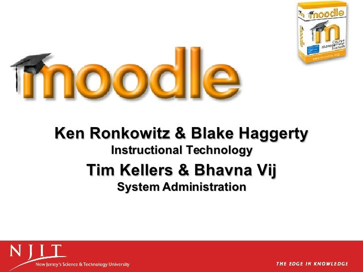Moodle Demo at NJIT