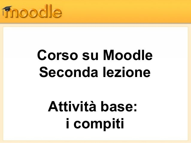 Moodle: i compiti (homework)