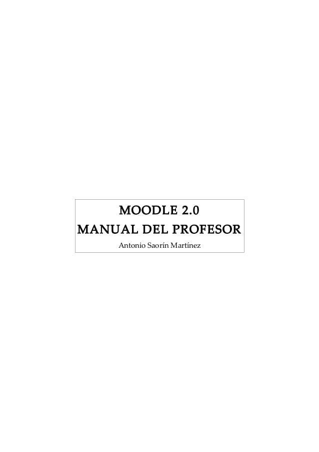 Moodle20 manual profesor